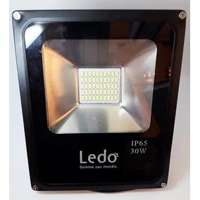 Kit 05 Refletor Smd 30w Branco Frio 6000k Bi-volt - Ledo