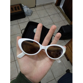 dcfb8297ae1d0 Óculos Branco Gatinho Vintage De Verdade Kurt Oh Jack Grunge · R  99