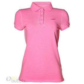 Camisa Polo Feminina Hollister - Pólos Manga Curta Femininas no ... 12c804da23546
