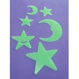 Figuras Decorativas Fluorescentes De Lunas Y Estrellas