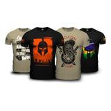 Kit 4 Camisetas Militares Parabellum Teamsix