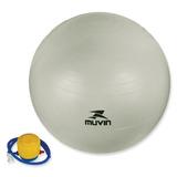 Bola Para Pilates E Yoga 55 Cm Cinza Muvin