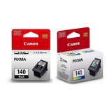 Pack Cartuchos Canon Pg-140 Y Cl-141 Originales Envio Gratis