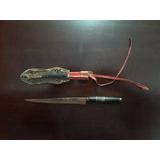 Ip128 - Faca Punhal Artesanal Com Bainha