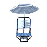 Cadeira Confortável Para Barco Com Suporte De Guarda Sol