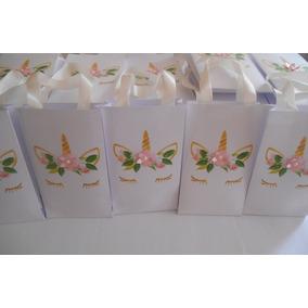 30 Sacolinhas P/ Lembrancinha Guloseima Embalagem Unicórnios