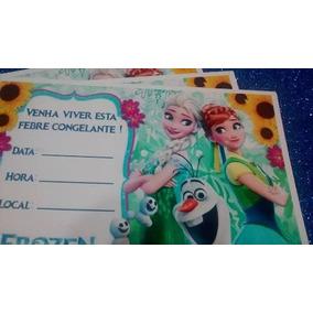 20 Convite Aniversário Frozen 2 Fever Elsa Anna N