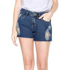 Short Jeans Morena Rosa Reto Destroyed