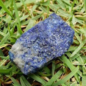 Cristal Pedra Bruta Lápis Lazúli Com Pirita