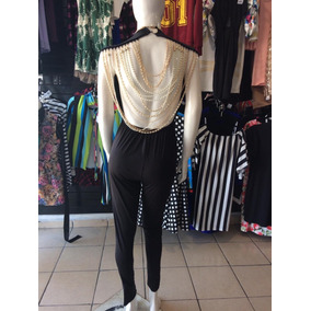 Sexy Jumpsuit Pantalon Escote En Espalda Perlas Fiesta Noche