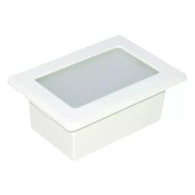Kit Com 7 Luminária Externa Embutida Parede Sem Grade