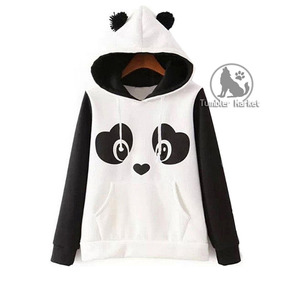 2021a501f Moletom Panda Feminino Casaco Cosplay (leia O Anuncio)
