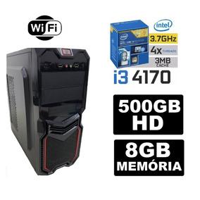 Pc Gamer Core I3 4160 3.7ghz 8gb Hd500 Wifi F 500w Gt1030 2g
