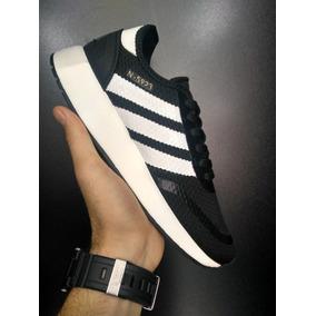 Tenis Adidas Preto Listras Brancas Original - Calçados b798c2e3162