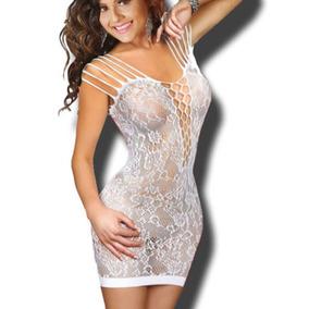 Catsuit Blanco Vestido Baby S Sensual T Sexy Doll L Lycra tqH71xE7