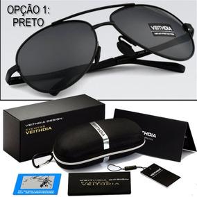 Oculos De Sol Masculino Feminino Aviador Original Polarizado 679e616baf