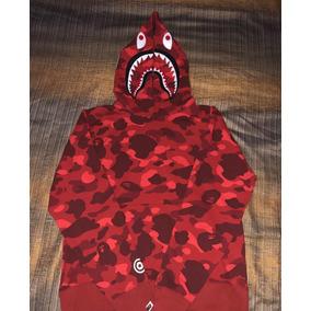 Hoodie Bape Red Camo Talla Mediada/ Sudadera Bape Roja Camo