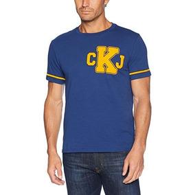 Calvin Klein Varsity Ckj Logo Crewneck Playera L