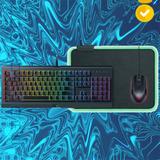 Nw Combo Gamer Razer Teclado Mouse Mousepad Rgb