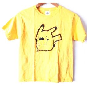 Playera Infantil Niño Pokemon Lets Go Pikachu Bigote Talla S