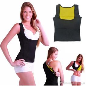 Cinta Modeladora Abdominal Efeito Sauna Hot T-shirt Feminina ffcab714ba949