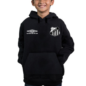 Blusa Agasalho Moletom Santos Futebol Torcedor Mirim 27b406f9800fb