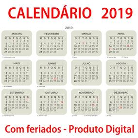 606b00206684e Calendário Preenchível - Informática no Mercado Livre Brasil