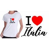 8bd461ee43 Camisa Camiseta Baby Look Branca Turismo Itália Estado Top