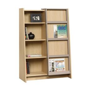 Librero Con Puertas Corredizas Color Natural 417770