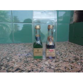 Antigua Botellita De Coleccion Licor Crema De Menta Glacial