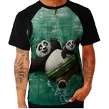 Camiseta Kung Fu Panda Filme Hd Movie Pow Herois Play Arte