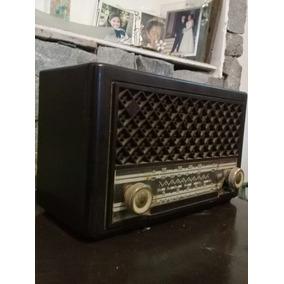 Antigua Radio A Lampara Funcionando Phillips