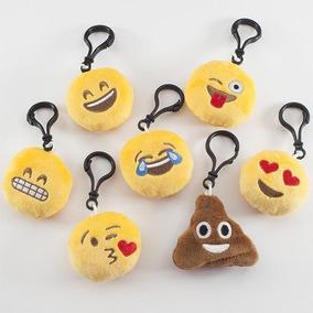 10x Chaveiro Emoji Emotic Em Pelúcia E Bordado