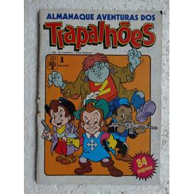 Almanaque Aventuras Dos Trapalhões Nº 1! Ed. Abril Jul 1990!
