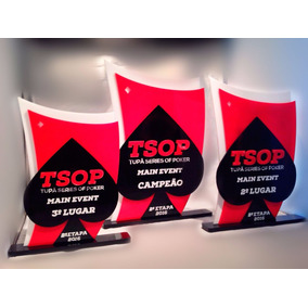 Troféu Poker / Acrílico - Troféus Personalizados - Tsop Unid