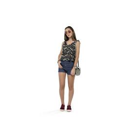 Blusa Regata Infantil Gloss Com Decote Em V