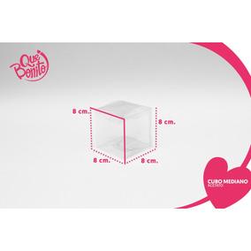 Cajitas Transparentes Acetato Cubos Dulces Bodas #8