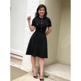 Vestido Moda Evangélica Modelo Rodadinho Com Bolso Falso