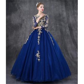 Vestido azul rey oscuro