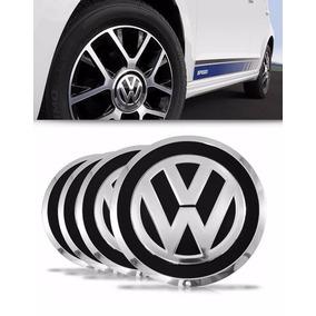 Jogo Calota Centro Miolo Roda Volkswagen Up! Up Preto 4 Pçs