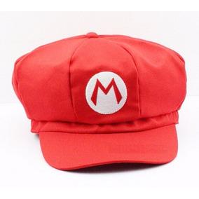 Boina Super Mario Bros Fantasia Mario Bordado Cosplay Barato