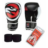 Kit Boxe Muay Thai Naja Opp - Luva Protetor Bandagem