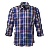 Camisa Masculina Xadrez Azul Made In Mato tamanho S15045 1963fc0e9b5