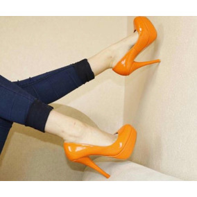 b30baacd7d Liquidaco Sandalia Salto 6 Cm - Sapatos Laranja no Mercado Livre Brasil