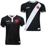 Kit Com 2 Camisas Do Vasco Pretas Modelo 2018 E Frete Gratis 3e05aa5b41656