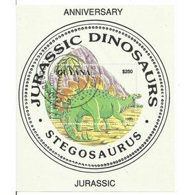 1993 - Guiana - Dinossauro - Estegossauro - Bloco Novo
