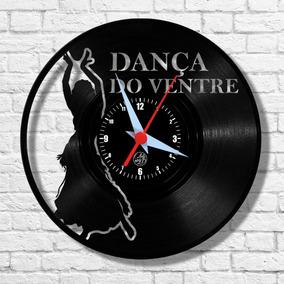 Dança Do Ventre Música Relógio Vinil Parede Lp