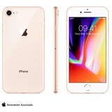 iPhone 8 Dourado Tela De 4,7 4g 256 Gb 12 Mp - Mq7e2bz/a