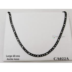 Cadena Tejido Cartier 60cms 4mm Acero Negro