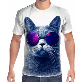 31414cffc7e76 Camiseta Gato Oculos - Camisetas Manga Curta para Masculino no ...